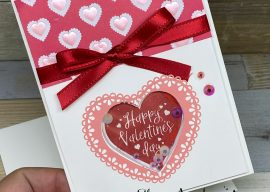 How to Make A Shaker Card For Valentine's Day