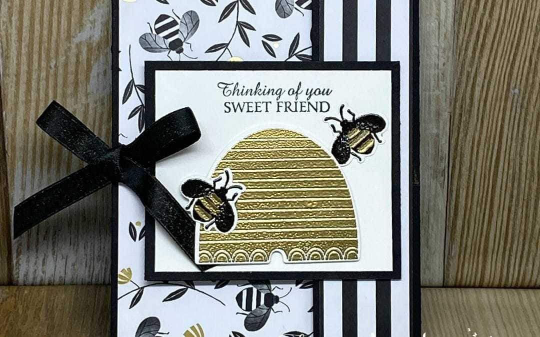 An Irresistible Honey Bee Greeting Card You'll Love