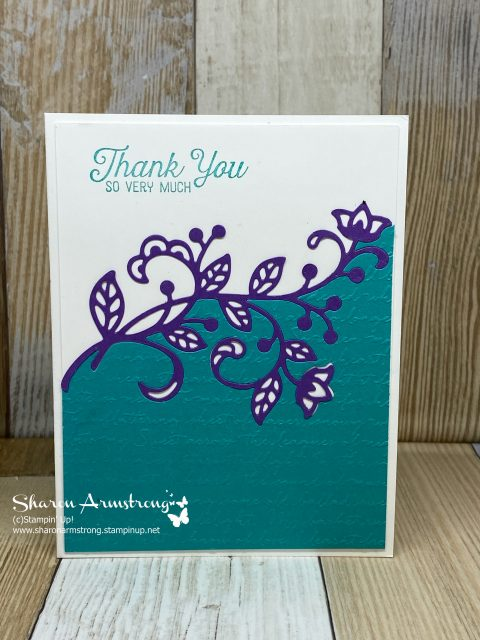 DIY-Thank-You-Card-with-Teal-Textured-Background-and-Purple-Flourish
