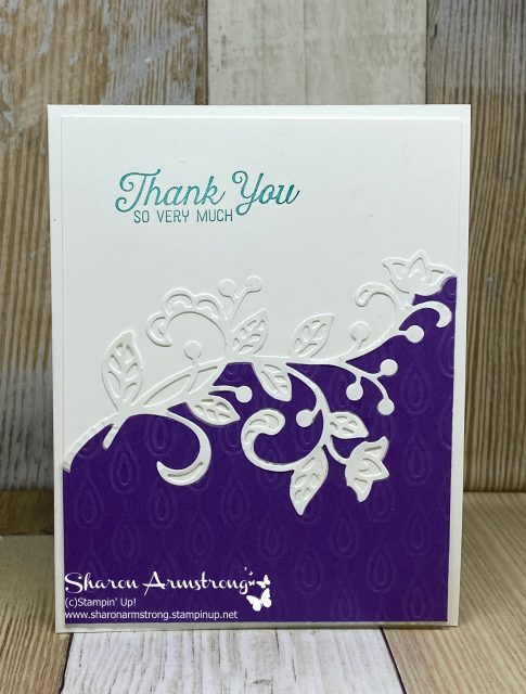 DIY-Thank-You-Card-with-Purple-Textured-Background-and-White-Flourish