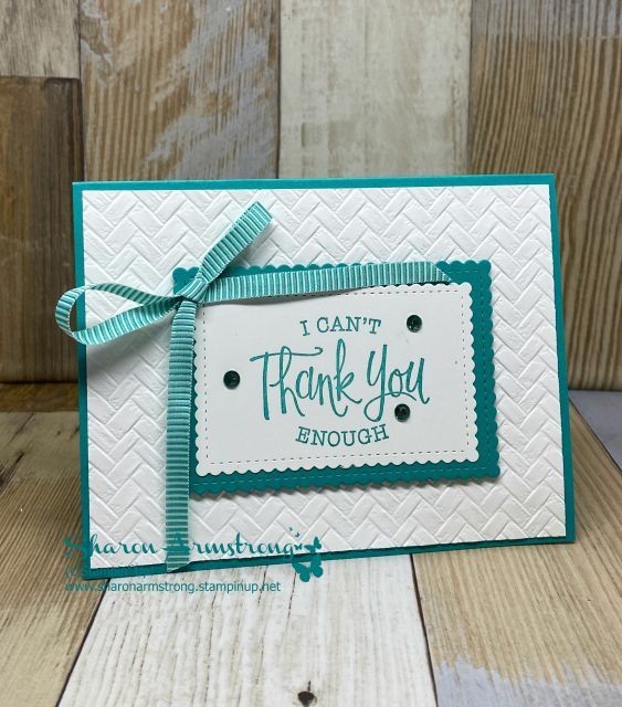 March-Online-Card-Class-Embossed-Thank-You-Card-by-Sharon-Armstrong