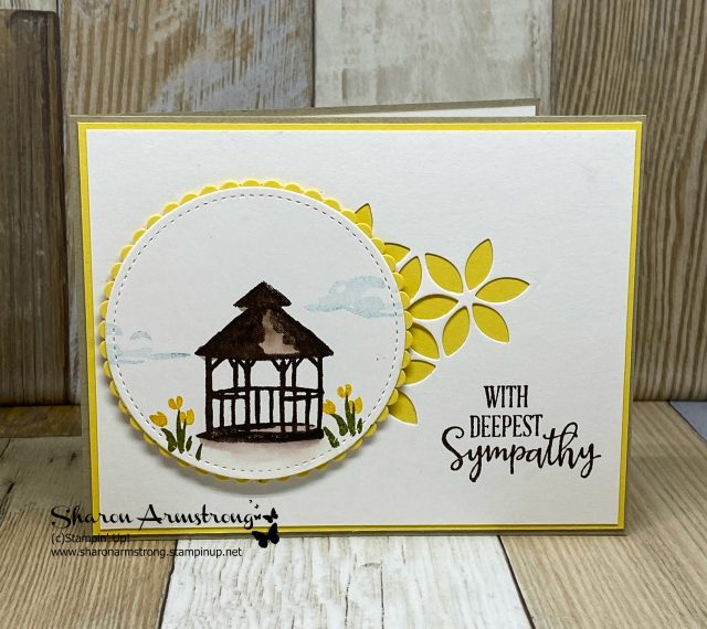 DIY-Sympathy-Card-with-Die-Cut-Background-and-Stamped-Image
