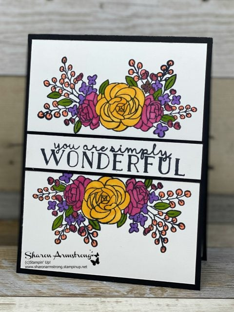 handmade-card-with-stamped-image-colored-with-bright-markers