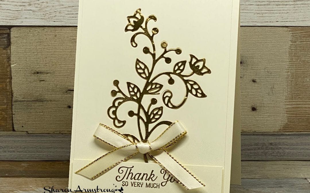 Die Cutting Tips with a Beautiful Thank You Card