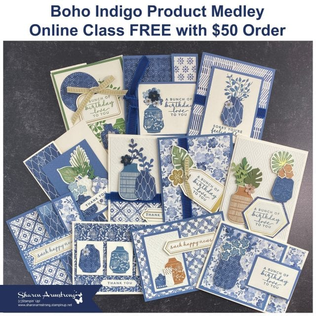 boho-indigo-card-making-class-with-sharon-armstrong-12-greeting-cards-to-make