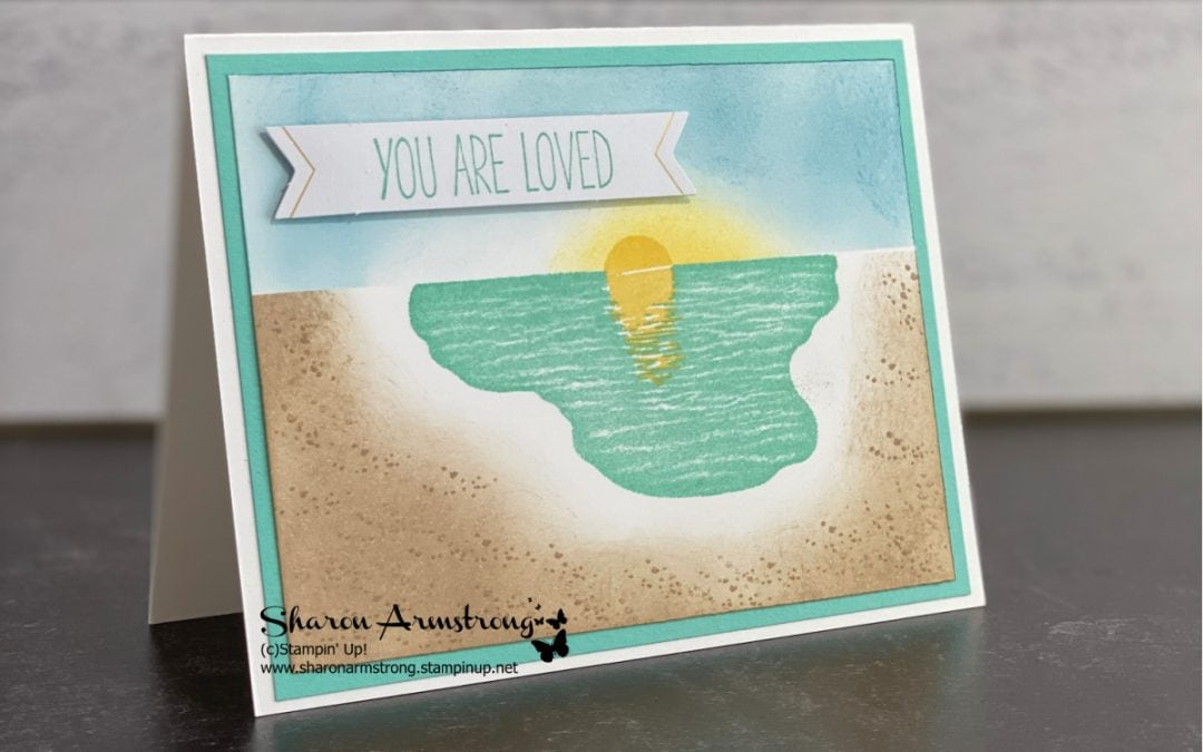 Sponging and Stamping Cards: Sending Sunshine Your Way